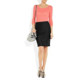J. Crew  No. 2 pencil skirt in cotton twill Black